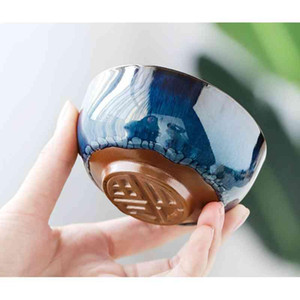 1 Pcs Chinese Ceramic Cup Ice Cracked Glaze Cup Teaset Small Porcelain Bowl Teacup Accessories Drinkware