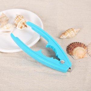 Многофункциональный моллюск гайки отверстия устройства цинкового сплава ореховые моллюски клип пластиковые моллюски открывать устройство посуды кухонный инструмент гаджет BWD3728