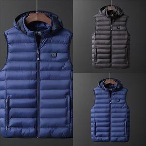 Z3UUH Kış Açık Bez Tüy Elektrikli Isıtmalı Yelek Yelek Isıtma Kış Termal Jacke Erkekler Kamp Yürüyüş Yüksek Kalite Sıcak Yelek