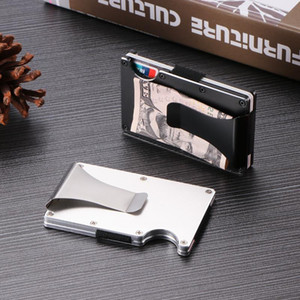 RFID Travel Anti-Chief Wallet Men New Arrive Metal Mini Money Clip Brand Fashion Bussiness Card ID Holder Case