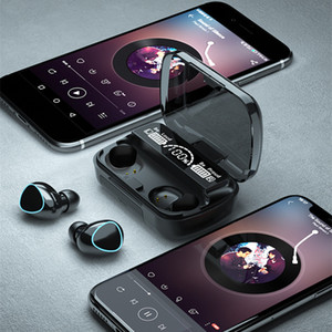 M10 TWS Wireless Bluetooth V5.1 Headphone Mini Earphone Stereo Sport Earbuds Touch Key LED Display Waterproof Headset with Microphone