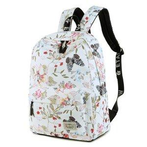 Leisure Floral Printed School Bags Travel Laptop Backpack Women Backpacks for Teenage GirlFemale Waterproof Backpacks Mochilas