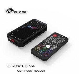 Bykski RGB(12v 4pin)  RBW(5v 3pin) Lighting Sync Controller For Bykski's RBW RGB Lightings Synchronization To Motherboard