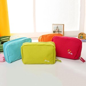 Multi-functional Up Canvas Bag Make Passport Organizer Wash Cosmetics Cosmetic Pack Case Travel Women Beautician Sdhws