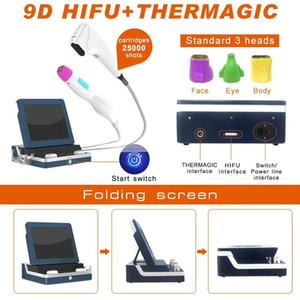 Tragbare 4D-HIFU-Maschine-Gesichtshebe-Falten-Entfernung HIFU-Gesichtsmaschinen-Fett-Reduktionskörper Abnehmen 9D-HIFU-Maschine