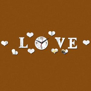 Special offer fashion wall clock Quartz Home Decoration diy clock Acrylic Mirror Wall modern design bedroom
