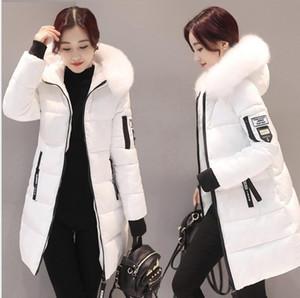 Neue Frauen Winterstil Koreaner Mit Kapuze Big Hairy Collar Daune Baumwolle Gepolsterte Jacke