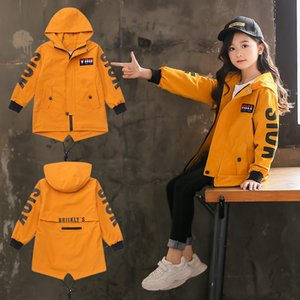 Kids Girls Trench Coat Hoodies Jacket 4 6 8 10 12 13 Years Teenage Girls Clothing 2020 Back To School Autumn Outerwear Children F1201