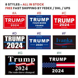 Fast Fast Ups / DHL Expédition 3 * 5ft 8 Styles Ivanka Trump 2024 Make America Great Breint encore quatre ans Drapeau pour les élections du président américain