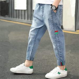 INS hot boys jeans 4-13 years old Cotton washed kids jeans Korean pocket letters pants for baby boys jeans kids 7 colors options F1203
