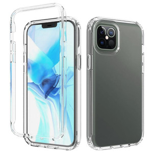 New Gradient Dual Color Transparent TPU+PC Shockproof Phone Case for iPhone 12 Mini 12 11 Pro Max XR XS MAX 8 Plus 7 6 6s 5.4 6.1 6.7 inch