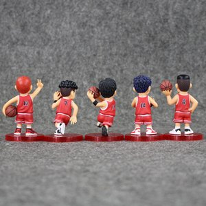 7-7.5cm SLAM DUNK Action Rukawa Toy Free Retail For 5pcs set Collectable Kids Kaede Shohoku Model Gift PVC Shipping Figure Mavgj