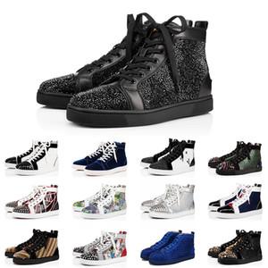 Neue Luxus Müßiggänger Roter Boden Junior Spikes Platform Designer Schuhe Herren Womens Casual Schuhe Bottoms Flat Trainer Sneakers Größe 13