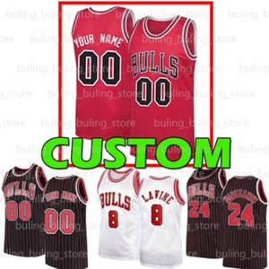 Benutzerdefinierte Chicago Männer Jerseys Bulls Zach Derrick LAUCH LAURI 1 ROSE Markkanen Coby Wendell White Carter JR Otto 22 Porter Basketball