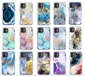 SE2020 Luxury Marble phone cover 3 in 1 Phone Case Defener Cellphone Protactive Case Cover For iphone 12 mini   i12 pro  i12Pro