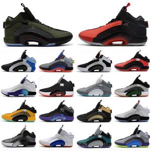 Nouveau Jumpman XXXV 35 Centre de fraternité de frautralité Warrior 35s Fragment Design Spia Stone Morpho Bayou Boyou Boyes Mens Basketball Chaussures