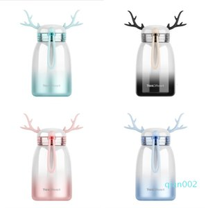 Gradient Color Elk Mug Portable Student Couple Big Belly Cups Ins Creative Deers Thermos Cup Christmas Gift Mugs