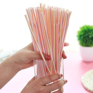 Colorful 100PCS Curved Plastic Drinking Straw Cocktail Wedding Birthday Party Summer Drinking Straws Bar Drink Accessories Tools1