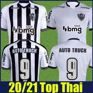 20/21 Brasileiro Clube Atletico Mineiro Soccer Jersey Black White Striped Shirt Elias Patric Chara Juani Football Jersey Camisa de Cam 2020