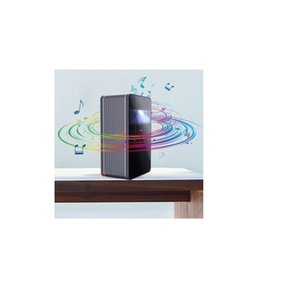 Portable Ultra Short Throw Smart Projector - Puppy Cube Mini Interactive Touchscreen Projector, 4K HDR, Auto-focus, DLP, Wi-Fi & Bluetooth,