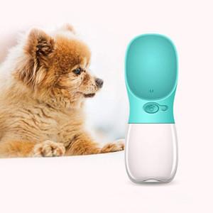 Pet Dog Cat Bouteille d'eau Portable Tasse de voyage Portable Alimentation en extérieur Bol à boire à boire 350 ml de petits grands chiens PET Produits PPA3036