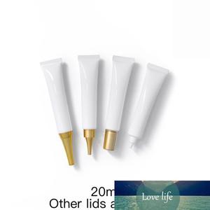 20ml Vazia Cream Cream Branco Tubos Macios 20G Face Foot Mesa Máscara Lotion Bálsamo Bálsamo Embalagem Cosméticos Recipientes Cosméticos 50 pcs
