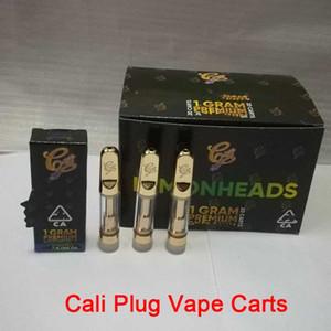 Cali Plug Premium Vape Carts 0.8ml serbatoio di vetro Supporta oro Coil ceramica 510 filettatura e sigaretta cartucce vape Nuovo contenitore di imballaggio tali cali