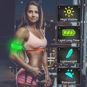 2020 Light Up Led Armbands For Running Reflective Gear Flashing Led Sports Wristbands New Night Activities Warning Safety #j2p