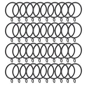 40 Packvorhangringe, 38mm Innendurchmesser Vorhänge Ringe Hängende Ringe für Vorhänge und Stäbe, Black1