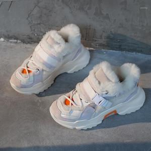 Yeni varış sonbahar kış kadın ayakkabı kar botları moda doğal hakiki deri kuzular yün kama artan sıcak kadın ayakkabı1