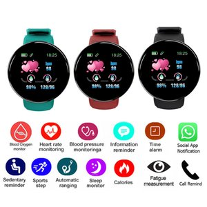NEW Electric custom D18 Android Touch smart watches Smart Bluetooth health monitoring detects sports watches For Android Phone