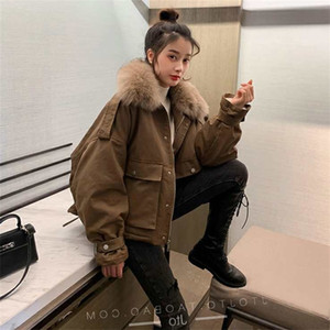 Winter Korean version of small short fashion brand school to overcome loose and thick down cotton padded clothes, female designer style