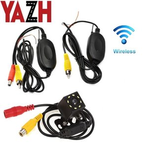 12V 24V Universal Car Rear View Camera Wifi Wireless Wiring Kit 2.4GHz Vehicle 8 LED Cameras Wireless Transmitter Receiver