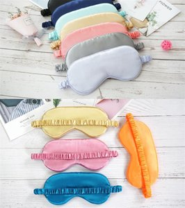 Silk Rest Sleep Eye Mask Padded Shade Cover Travel Relax Blindfolds Eye Cover Sleeping Mask Eye Care Beauty Tools free dhl