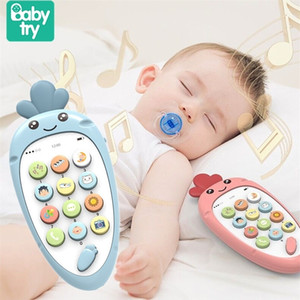 Baby Phone Toy Mobile Phone for Kids Telephone Toy Infant Early Educational Mobile Toy Chinese English Learning Machine 201214