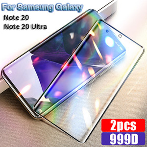 Tempered Glass Screen Protectors For Samsung Galaxy Note S 20 Ultra S21 HD Curved Protectors Full Screen Coverage Protective Film