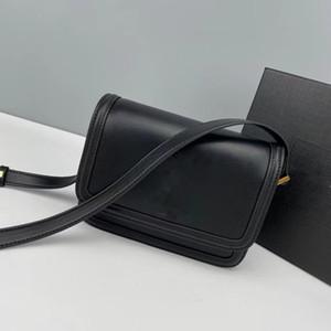 Diseñadores de lujo Bolso de mano clásico de calidad superior de cuero genuino con correa de hombro bolsas de hombro bolsas de las mujeres bolsa de vaca bolsos