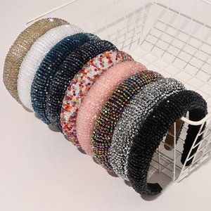 Hair Bands Crystal Shiny Hairband Full Padded Diamond Bands For Women Lady Luxury Headband Hair Hoop Fashion Hair Accessories
