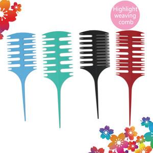 Coiffure professionnelle Barber Coloring Coloring Coloring Teinture Assocaire Saule Section Sélection de la brosse Tissage Brosse Pinceau de coiffure 4PCS / Set