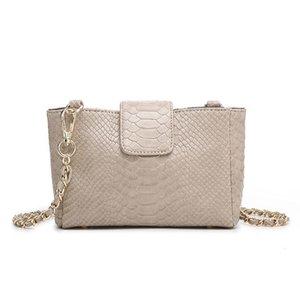 Explosive ladies all-match shoulder bag fashion new summer chain bag snake pattern convenient messenger bag