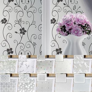 PVC Window Stickers Home Privacy Window Film Frosted Glass Self Adhesive Cling Stickers Wardrobe Film Room Decoration
