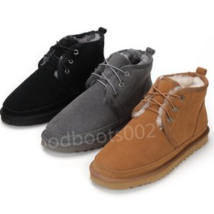 Yellow mens winter booties wool shoe women Red platform snow boots men classic boots straps casual warm martin boot