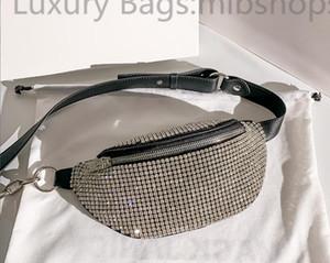 High Quality Designer Women crystal Diamante Handbags Metallic Beads Shoulder Bags Glitter Diamonds Lady Chest bag Crossbody Bag waist bags