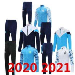 20 21 Jersey de football olympique de Marseille 2020 2021 om Marseille Sportswear Cuision Benetto Kamara Thaauvin Veste de sport Veste Sportswear