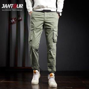 Jantour Mens Harem Cargo Pants 2020 New 8 Colour Harajuku Men Trousers Multiple Pocket Male Outdoor Joggers Size 28-38