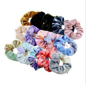 Saç Halkası Kravat Boyalı Hairbands Kızlar Renkli Scrunchies Bandı Elastik Saç Halkası Şapkalar Scrunchy Parti Saç Aksesuarları GWB3791