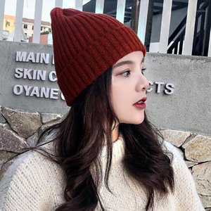 Hat Winter Creative New Candy Color Pullover Woolen Hat Candy Color Warm Vertical Stripes Knitted1