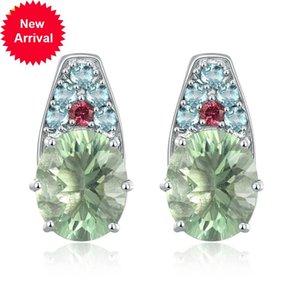 Hutang fluorite vert gemmes royal gemmes turmaline apatite solide 925 argent sterling bijoux fins élégants