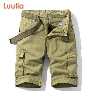 Luulla homens verão novo clássico stretch swill algodão cargo shorts homens casuais moda sólida mutil bolsos legwear cargo shorts1