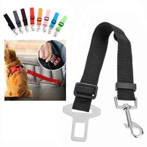 Harnais de chien Réglable Sécurité de voiture Sécurité Chien Belt-Celée Accessoires pour animaux de compagnie Harnais de ceinture Soiseau de retenue Seat Laisse Laisse Travel Clip